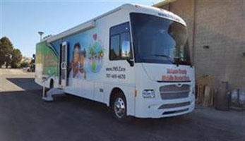 Van that provides mobile dental services